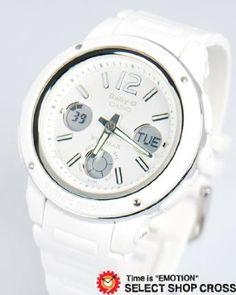 Casio Baby-g Bga150-7bdr Big Face Monotone Design Analog-digital Watch White Limited Edition