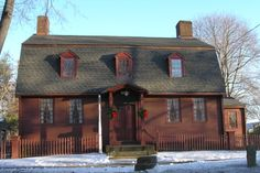 Built around 1759, the Samuel Parsons House, on Main Street in Wallingford, once served as a tavern when stage coaches stopped there. Featuring many traditional colonial elements, the house is transitional in style because it also has features of the Georgian style, including its two chimneys and the way its rooms are arranged inside. Caleb Thompson bought the house in 1803 and built  coffins in his shop on the property. Owned by the Society since 1932, today the house is a museum.