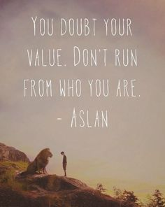 Don't run from who you are