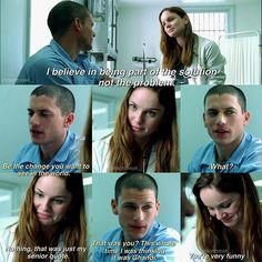 The feels omg, this scene is SO cute QOTD - favourite MiSa moment ❤️ - - - - Series Movies, Movies And Tv Shows, Tv Series, Theodore Bagwell, Prison Break Quotes, Sara Tancredi, Jodi Lyn O'keefe, Lincoln Burrows, Michael And Sara