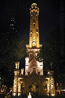 Dream Wedding site: Old Chicago Water Tower Place at night
