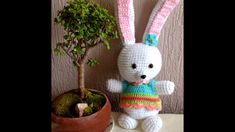 Conejo en crochet - divertido - tierno - amigurumi paso a paso, fácil y ...