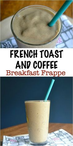 A Healthy Coffee Frappe that contains all the flavors of French toast. Only 6 easy ingredients.