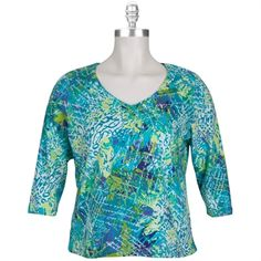 Ruby Rd. Plus Size French Inspiration Tee #VonMaur #RubyRd. #PlusSize #Tee