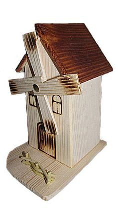 Wooden mill moneybox by WoodenTreasury on Etsy