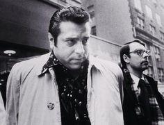 Joseph Sarcinella is arrested by the FBI in 1975. He is one of three alleged Mafia figures who pleaded guilty in a recent scheme to control the garbage collection industry in New York and New Jersey.  Read more: http://www.nydailynews.com/news/crime/garbage-plot-bags-wiseguys-article-1.1433414#ixzz2dkUFpWWY