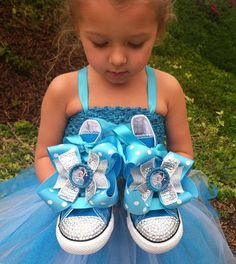 FROZEN SHOES - Elsa and Ana - Frozen Party - Elsa Costume - Frozen Birthday - Crystals - Bling Converse - Infant/Toddler/Youth on Etsy, $74.99