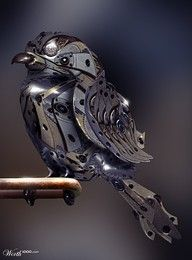 "Mechanical Bird - reminds me of the story ""The Nightingale"""