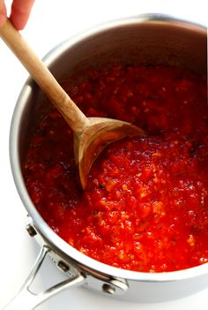 This Spicy Arrabbiata Sauce (a classic Italian marinara) Spicy Pasta, Tomato Pasta Sauce, Spicy Tomato Sauce, Pasta Sauce Recipes, Arribiata Sauce Recipe, Spicy Spaghetti Sauce Recipe, Pasta With Red Sauce, Tomato Sauce Recipe, Italian Foods