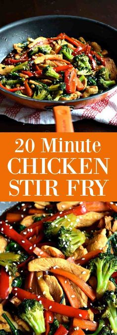 20 Minute Chicken Stir Fry – An easy healthy meal made in just 20 minutes Loading. 20 Minute Chicken Stir Fry – An easy healthy meal made in just 20 minutes Healthy Chicken Stir Fry, Veggie Stir Fry, Chicken Stir Fry Sauce, Chicken Broccoli Stir Fry, Paleo Stir Fry Chicken, Simple Chicken Stir Fry, Healthy Stir Fry Sauce, Chinese Chicken Stir Fry, Chicken Stir Fry With Noodles