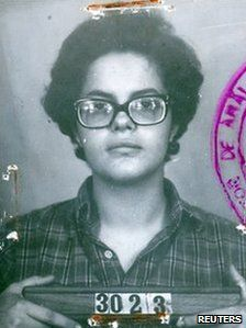 Police photo of Dilma Rousseff in the 1970s when she was in the armed resistance to the military