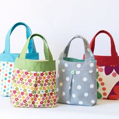 My super cute toddler totes are just like grown up bags that have shrunk in the wash! These kids bags are fully lined and interfaced for added