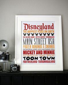 [DISNEY WEEK] Subway Art - free printable - Disneyland