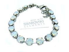 Armband mit Swarovski Elements -Uni- White Opal Günstig