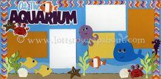 At The Aquarium Scrapbook Page Kit [attheaquarium13] - $7.99 :: Lotts To Scrap About - Your Online Source for Scrapbook Page Kits!