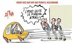 @Marianorajoy entiende mal lo de pisar el acelerador #crisis #humor #nosrobanlacartera