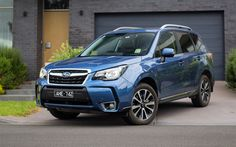 Download wallpapers Subaru Forester XT, 2017 cars, crossovers, blue Forester, Subaru