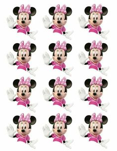 Cupcakes Minnie Minnie Mouse Cupcake Toppers, Minnie Mouse Birthday Decorations, Minnie Mouse Baby Shower, Minnie Mouse Pink, Mickey Mouse Birthday, Mickey Minnie Mouse, Mickey Mouse Images, Mickey Party, Mouse Parties