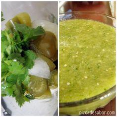 Aprende a preparar una deliciosa salsa verde con esta receta paso a paso, la receta de mi mamá y la favorita de mi familia. Muy fácil y para acompañar lo que más se te antoje.