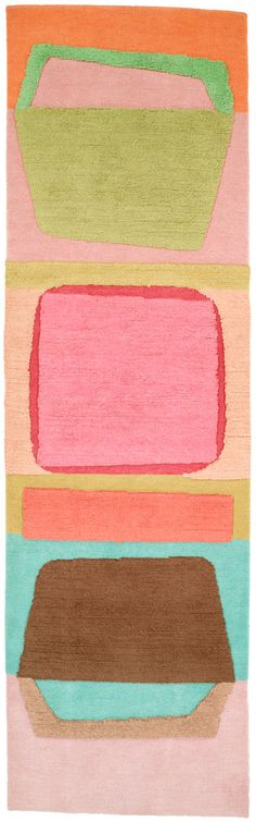 "Doug and Gene Meyer rug called ""Abstract Art Too""."
