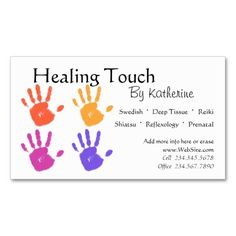 Massage Therapy business card. This great business card design is available for customization. All text style, colors, sizes can be modified to fit your needs. Just click the image to learn more!