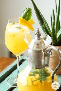 Pineapple, Mango and Basil Sangria