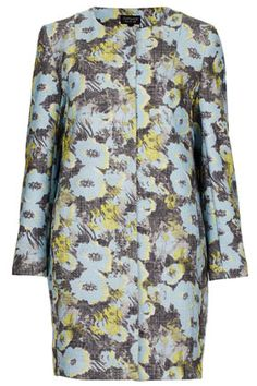 {bright floral boucle coat - topshop}