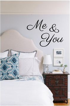 "Me & You (or You and Me) - Vinyl Wall Art Decal for Home and Couples Bedroom - Romantic - 30"" W x 22"" H. $15.00, via Etsy."