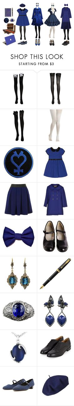 """Sailor Mercury / Ami Mizuno (Sailor Moon)"" by queenstormrider ❤ liked on Polyvore featuring CO, Yumi, Darling, Cathy Waterman, Parker, Alexis Bittar, Guide London, Betmar, Valentine Goods and vintage"