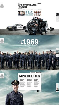 Nice parallax design for Milwaukee Police Department way overkill