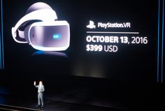 PlayStation VR is arriving October 13th priced at $399
