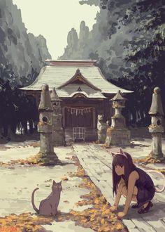 神社へ遊びに|禅之助|note