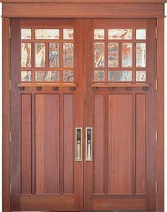 Craftsman Double Front Doors