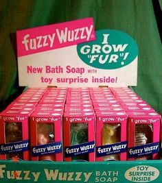 Fuzzy Wuzzy soap---due to this being advertised so much on TV when I was a kid, I wanted this soap in the worst way!