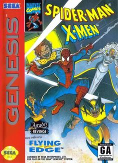 Marvel, Spider-Man, X-Men, Sega Genesis