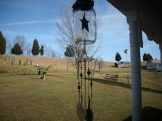 mason jar wind chimes,live laugh love etched glass wind chime,primitive,country,out doors,garden,home decor by countrybee on Etsy
