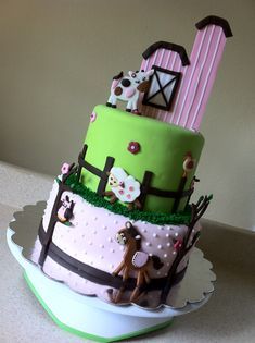 This is it.  Abby's Farm Cake...now just need to get these aspects and details into a 1-2 small tier cake.