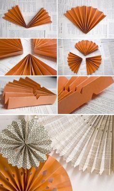 DIY: paper wheels backdrop by rosella