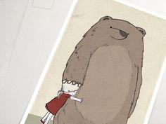 Postkarte Bärenmädchen