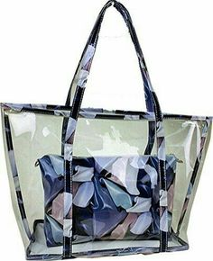 Buenocn Clear Transparent Tote Shoulder Bag Satchel Beach Handbag for Women (blue) – 2019 - FASHION 60 Stylish Tote Bags for Traveling that Must You Have - Fashion Best Transparent Bag, Clear Bags, Denim Bag, Nylon Bag, Hobo Bag, Purses And Bags, Satchel, Shoulder Bag, Consideration