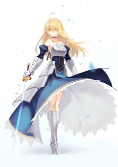 Saber, Fate Stay Night artwork by Joseph Lee.