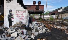 Banksy, Detroit, 2010. I remember too
