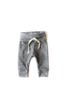|Gray Linen| Babysprout's Signature Product- Organic Drawstring Leggings- are made from 100% soft organic cotton knit. With a little bit of stretch and a lot of