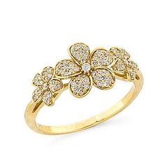 Plumeria+Ring+with+Diamonds+in+14K+Yellow+Gold Maui Divers