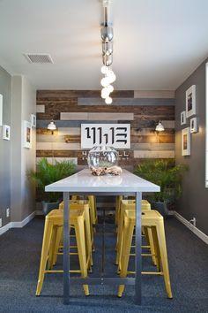 reclaimed wood planks on wall --  Joshua's Functional Warm Minimalism  Workspace Tour