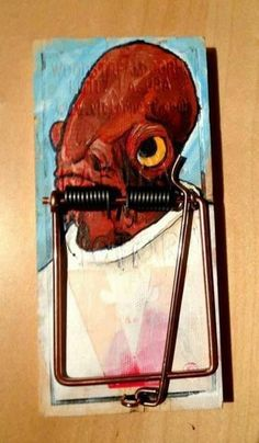 'It's a Trap!'...Ha! Star Wars Art, Star Wars humour.