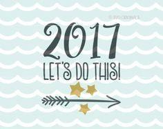 Gelukkig Nieuwjaar 2017 SVG Hello 2017 SVG door SVGOriginalsLLC