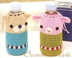Crochet Bottle Cover - free diagram