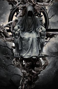 Dark art for our inner demons: Photo Grim Reaper Art, Don't Fear The Reaper, Foto Fantasy, Dark Fantasy Art, Dark Gothic Art, Dark Art, Reaper Tattoo, Satanic Art, Skull Artwork