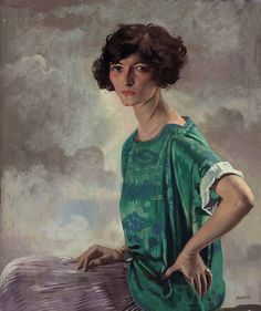 """Portrait of Gertrude Sanford"", 1922, by William Orpen (Irish, 1878-1931)"